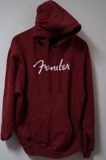 Men's Fender Guitars Polyester/Cotton L/S Hooded Sweatshirt Size M Red
