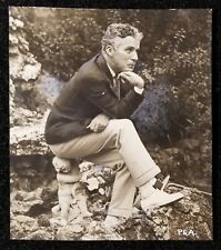 1927 Charlie Chaplin Pacific Atlantic Antique Photo with Vintage Hand Touch Up