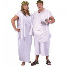 Plus Size Unisex Greek Roman Toga Fancy Dress Up Costume Adult Mens Ladies Tunic