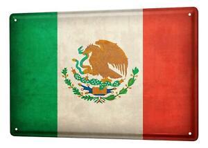Plaque ?maill?e Voyage Autour Du Monde  drapeau du Mexique Signes D?corative