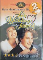 Four Weddings and a Funeral (DVD, 1993, 1999) Hugh Grant  Andie MacDowell  NEW