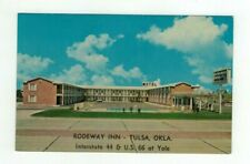 "OK Tulsa Oklahoma vintage Route 66 post card ""Rodeway Inn"""