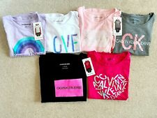 Lot of 2 Girls Junior Calvin Klein Jeans Tees T-Shirts Tops