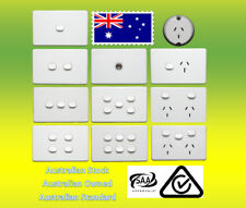 10 Amp 240V Double Power Point Socket Outlet GPO Wall Light Switch USB