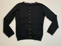 Women's BODEN Size 6 US Black Cardigan Long Sleeve Cotton Blend