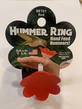 New listing Red Hummingbird Hand Feed Hummers Ring Feeder, New