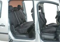 VW Caddy Maxi INKA Front Rear Tailored Waterproof Seat Covers Black MY15 onwards