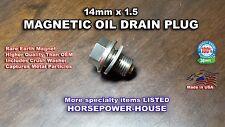14mm CRANKCASE MAGNETIC OIL DRAIN PLUG REPLACES YAMAHA OEM PART 90340-14132-00