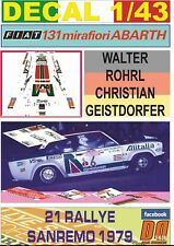 DECAL 1/43 FIAT 131 ABARTH W.ROHRL R.SANREMO 1979 2nd (01)