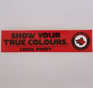 VINTAGE THE BLOODS WEST ADELAIDE FOOTBALL CLUB SANFL TRUE COLOURS PROMO STICKER