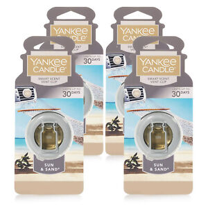 Yankee Candle Car Freshener Smart-Scent Vent Clips, 4-PACK (Sun & Sand)