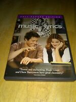 Preowned Music and Lyrics 2007 Full Screen Edition DVD Hugh Grant Drew Barrymore