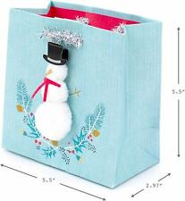 Hallmark Signature Holiday Small Gift Bag (Snowman)
