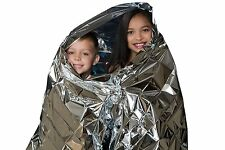 Emergency Thermal Blankets (Pack of 5) Great Quality! Be Safe! Great for Camping