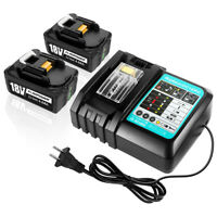 2PACK 4.0AH Li-ion Battery & 18V Fast Charger for Makita BL1830 BL1850 LXT400