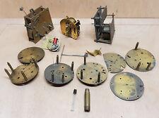 horlogerie lot pieces détachées mouvement mecanisme pendule carillon horloge
