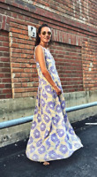 H&M Trend Long Viscose Floral Print Patterned Floaty Maxi Dress 6 8 10 12 14 16