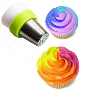 Icing Piping Pastry Bag Nozzle Converter Adaptor Tri-color Cream Coupler Cake