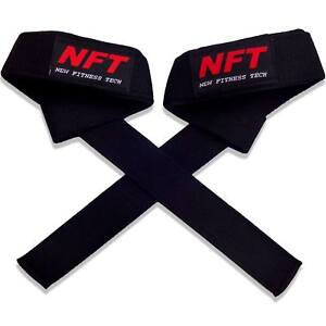 Padded Weight Lifting Straps Training Gym Hand Wrist Wraps Gloves Support NFT UK