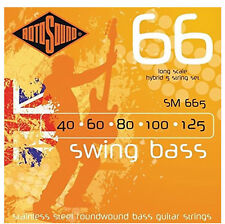ROTOSOUND 5 STRING SM665 STAINLESS STEEL ROUNDWOUND BASS GUITAR STRINGS 40-125