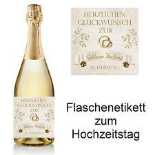 1 Flaschenetikett zum Hochzeitstag 10x10    -  50 Jahre Goldene Hochzeit