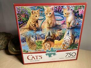 "Cats 'Kitten Dreams' 750 Piece Jigsaw Puzzle 24""x18"" Buffalo USA"