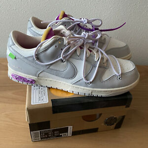 Nike Off White Dunk Low # 03 Size 12