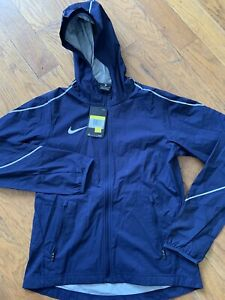 Nike Weather Resistant Running Jacket - Women's Small ~ $140.00 AJ3657 Navy Blue