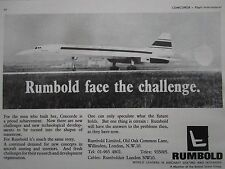 1969 PUB RUMBOLD AIRCRAFT SEATING INTERIOR SEAT SIEGE AVION SST CONCORDE AD