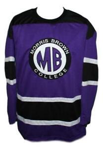 Any Name Number Morris Brown College TV Show Retro Custom Hockey Jersey Purple