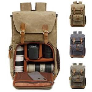 Unisex DSLR SLR Camera Backpack Rucksack Waterproof Travel Laptop Lens Case Bags