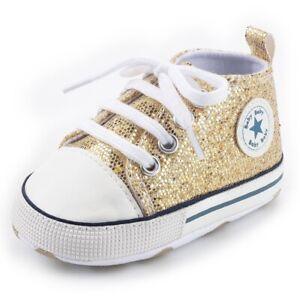 Baby Shoes Boy Girl Star Solid Sneaker Cotton Soft Anti-Slip Sole Newborn