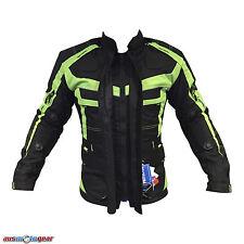 Motorcycle Motorbike Air Vented Summer Waterproof Textile Armour Hi Vis Jacket