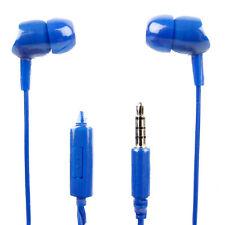 In-Ear Earphones in Blue With Microphone for the  ZTE Open II Firefox Phone