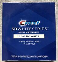 NEW Crest 3D Whitestrips Classic White Dental Whitening Kit 20 Strips Exp 12/22