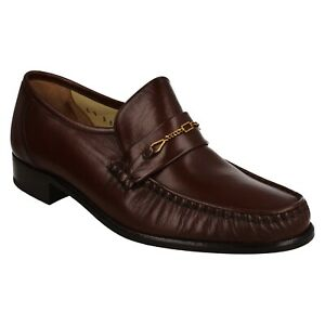 MENS GRENSON ANTIGUA SLIP ON LEATHER MOCCASIN OCCASION PARTY WEDDING SHOES SIZE