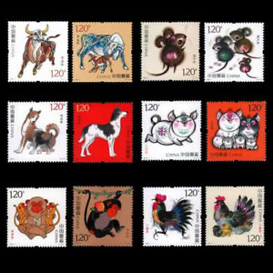 CHINA 2016-1 2017-1 2018-1 2019-1 2020-1 2021-1  Monkey Cock PIG Rat Ox Stamps