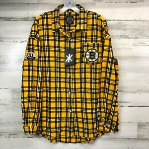 NEW Men's NHL Hockey Briuns Penguins Button Up Shirts Size XL