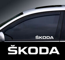 2 x Skoda Window Decal Sticker Graphic *Colour Choice*