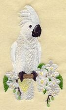 Cockatoo Set Of 2 Hand Towels Embroidered New