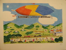 "Oscar de Mejo  ""The Dirigible "" Original Lithograph signed and numbered"