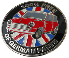 Mini Cooper 100% Free of German parts grille badge