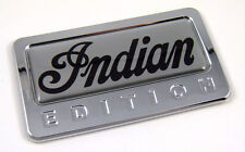 Indian Edition Chrome Emblem with domed decal Car Bike Auto Motorcycle Badge