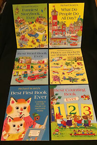 Richard Scarry 6 Large Books