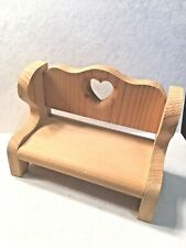 """""""love"""" small wooden doll /teddy bear bench furniture"""