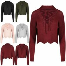 Unbranded Long Sleeve Cropped Jumpers & Cardigans for Women