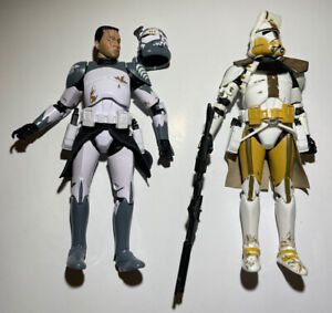Star Wars The Black Series Clone Commander Wolffe + Bly Action Figure Lot Of 2