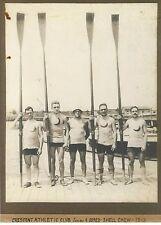 1913 Crescent Athletic Club Brooklyn New York 4-Man Shell Crew Rowing Reprint