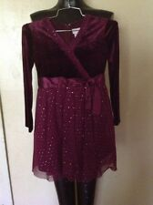 American Girl Burgundy Velvet and Sequins Party/Holiday Dress Girls size 10
