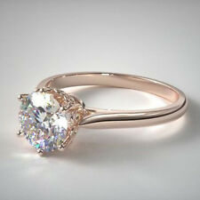1.84 Ct 14K Rose Gold Spring Blossom Six Prong Solitaire Engagement Ring